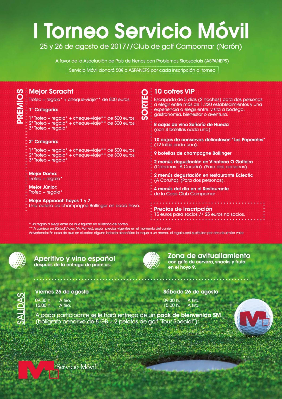 cartel I Torneo Servicio Movil
